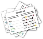 Isegrim - Übersichtskarten